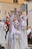 Alcoy, Espanha - 22 de abril de 2016: Povos vestidos como o legio cristão Imagem de Stock Royalty Free