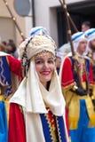 Alcoy, Spain - April 22, 2016: People dressed as Christian legio Stock Image