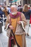 Alcoy, Spanien - 22. April 2016: Leute gekleidet als christliches legio stockfoto