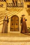 Alcudia城镇厅入口 免版税库存图片