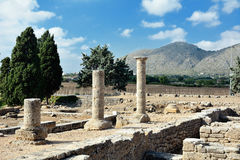 Alcudia废墟  库存照片