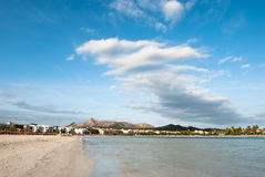 Alcudia. View from the beach in Alcudia on Majorca Royalty Free Stock Images