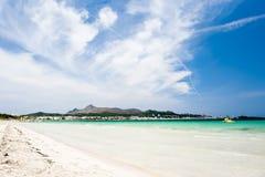Alcudia beach. Alcudia on the island Majorca in spain Royalty Free Stock Photos