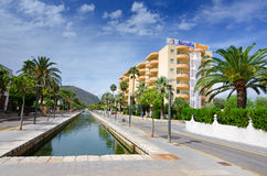 Alcudia Beach - hotel area Royalty Free Stock Photo