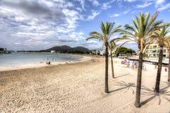 Alcudia beach, Mallorca, Balearic islands, Spain Royalty Free Stock Images