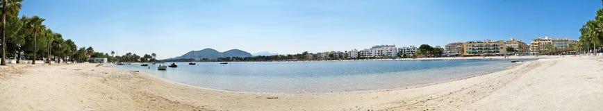 Alcudia beach panorama, Majorca Royalty Free Stock Photo