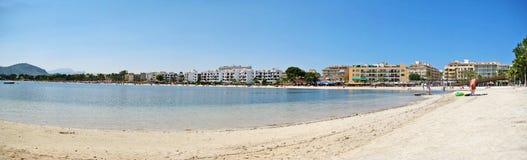 Alcudia beach panorama, Majorca Royalty Free Stock Photos