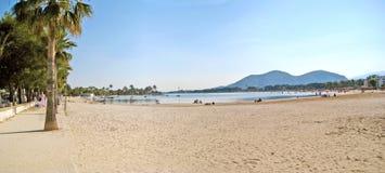 Alcudia beach panorama, Majorca Stock Photography