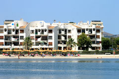 Alcudia beach scene in summer Royalty Free Stock Photo