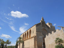 Alcudia cathedral. Side view of the famous cathedral of alcudia Stock Images