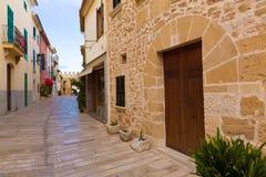 Alcudia Città Vecchia in Maiorca Mallorca balearica Fotografie Stock