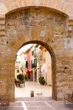 Alcudia Città Vecchia in Maiorca Mallorca balearica Immagine Stock Libera da Diritti