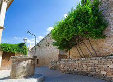 Alcudia city decorative wall Royalty Free Stock Image
