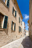 Alcudia city street Royalty Free Stock Images