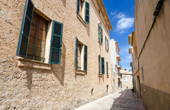 Alcudia city typical architecture Stock Images
