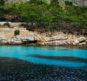 Alcudia 2016 de nord de Majorque naviguant au schnorchel Photos libres de droits