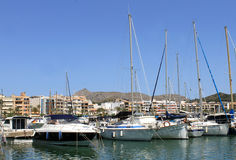 Alcudia harbor and marina Stock Photo