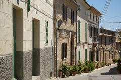Alcudia houses Royalty Free Stock Photography