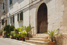 Alcudia houses Stock Photography