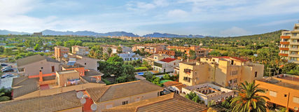 Alcudia, Majorca - panorama view over roofs Stock Photos