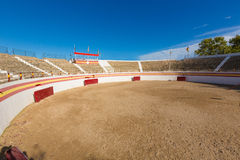 Alcudia Mallorca bullring in Balearic islands. Of Majorca Spain Stock Images