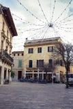 Alcudia. Mallorca. Square of the Alcudia village in Mallorca. Spain Stock Photo