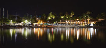 Alcudia by night Royalty Free Stock Image