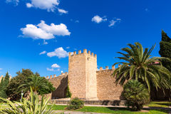 Alcudia Old Town fortres wall in Majorca Mallorca Stock Image