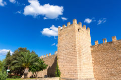 Alcudia Old Town fortres wall in Majorca Mallorca Royalty Free Stock Photo