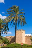 Alcudia Old Town fortres wall in Majorca Mallorca Royalty Free Stock Photography