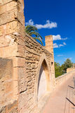Alcudia Old Town fortres wall in Majorca Mallorca Royalty Free Stock Images