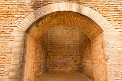 Alcudia Old Town fortress wall in Majorca Mallorca Royalty Free Stock Photography