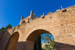 Alcudia Old Town fortress wall in Majorca Mallorca Stock Image
