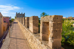 Alcudia Old Town fortress wall in Majorca Mallorca Stock Photos