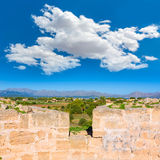Alcudia Old Town fortress wall in Majorca Mallorca Stock Photo