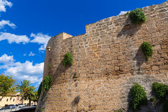 Alcudia Old Town fortress wall in Majorca Mallorca Royalty Free Stock Image