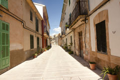 Alcudia Old Town in island Majorca, Spain. Royalty Free Stock Photos