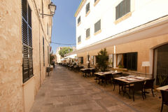 Alcudia Old Town in island Majorca, Spain 28.06.2017. Stock Photos