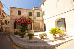 Alcudia Old Town in island Majorca, Spain 28.06.2017. Royalty Free Stock Photo