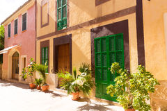 Alcudia Old Town in Majorca Mallorca Balearic Stock Photos