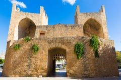 Alcudia Old Town in Majorca Porta des Moll Mallorca Balearic isl Stock Photos