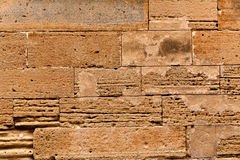 Alcudia Old Town masonry wall texture Mallorca Royalty Free Stock Photography