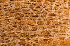 Alcudia Old Town masonry wall texture Mallorca Stock Photography