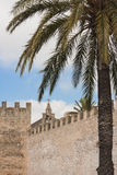 Alcudia Old Town Postcard. Old town walls in Alcudia, Majjorca Royalty Free Stock Photos