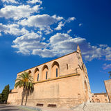 Alcudia Old Town Sant Jaume church in Majorca Stock Photography