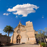 Alcudia Old Town Sant Jaume church in Majorca Royalty Free Stock Image