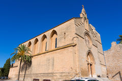 Alcudia Old Town Sant Jaume church in Majorca Royalty Free Stock Photo