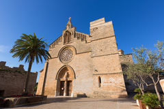 Alcudia Old Town Sant Jaume church in Majorca Stock Photos