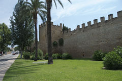 Alcudia Old Town Wall Stock Images