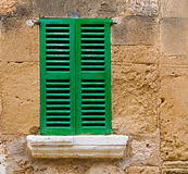 Alcudia Old Town wood shutters Mallorca Stock Image
